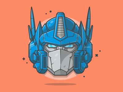 Optimus Prime! 😝 transformers vector autobot soldier shots illustration icon gun flat prime dribbble optimus