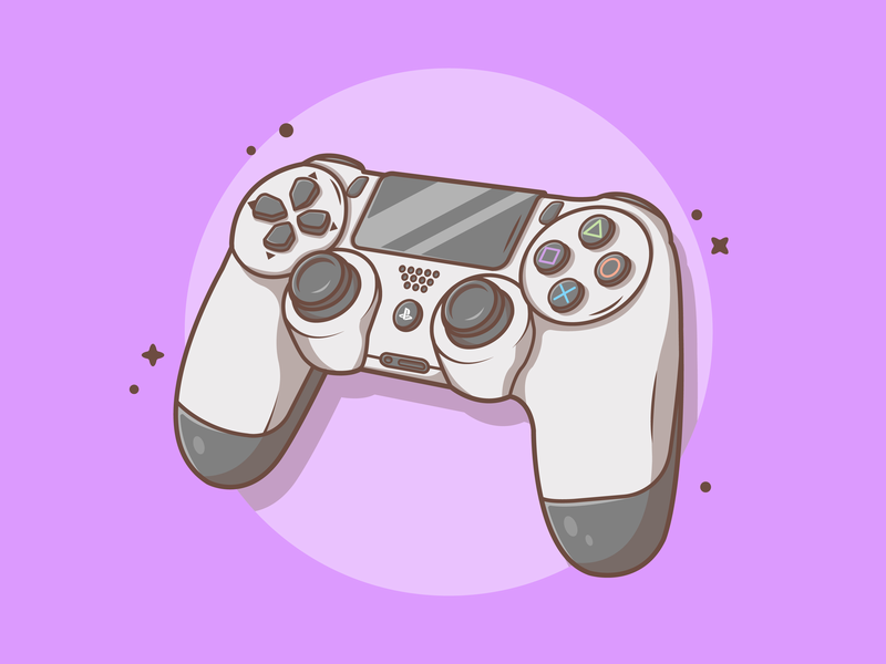 PS4 Controller! 🤙🎮 playstation fifa game controller ps4 logo shots vector icon flat illustration dribbble