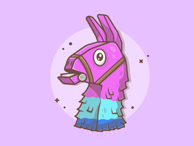 Llama Fortnite! 😁🔫 gamer gun vector game cute llama fortnite logo icon flat illustration dribbble