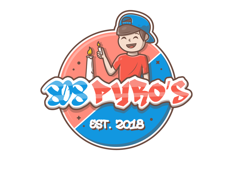 Sticker Design! 💥 🔥 cute pyro fire character boy sticker design logo icon flat illustration dribbble