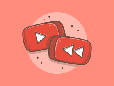 YouTube Rewind 😁🤓 video red media play 2018 rewind youtube logo icon flat illustration dribbble