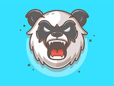 Angry Panda Mascot Design! 🐼😁 bamboo panda bear animal angry panda esport mascot logo icon flat illustration dribbble