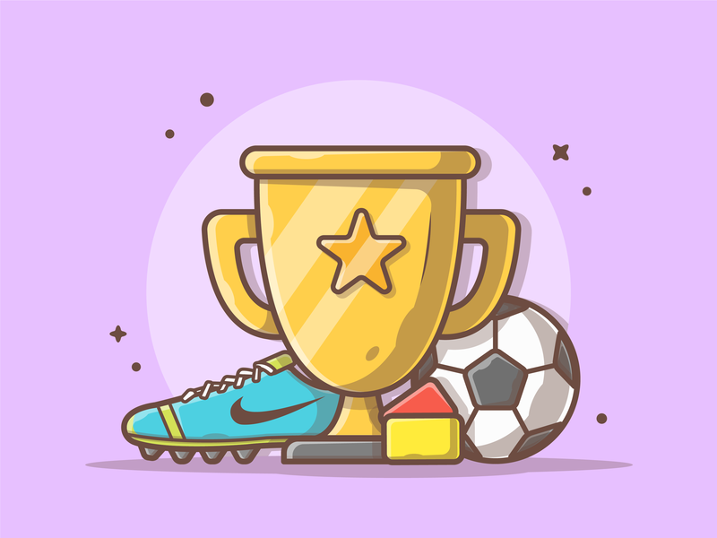 Soccer! ⚽ 🏆 shoes football soccer logo cute lineart shots vector flat icon illustration dribbble