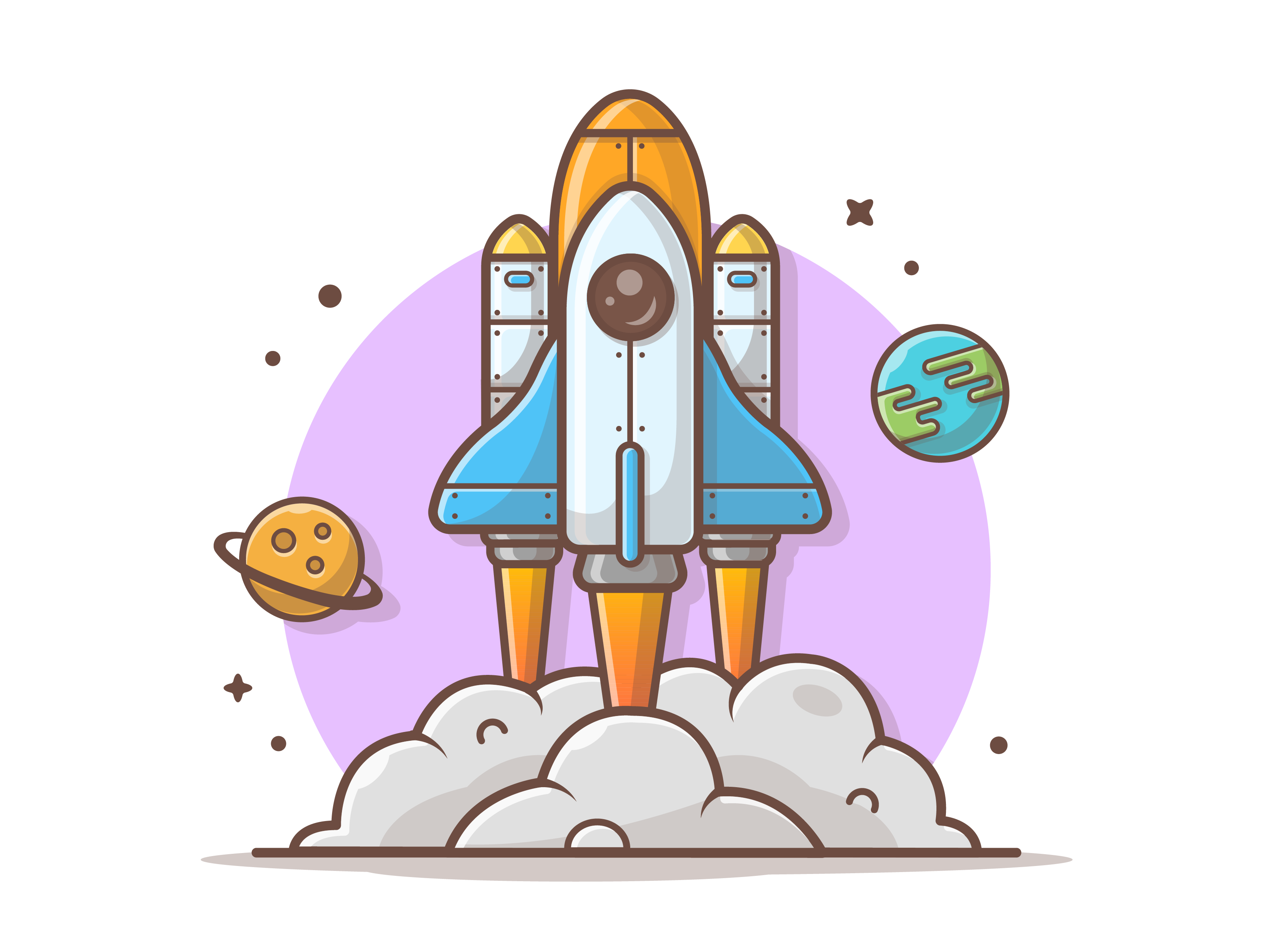 Flying space shuttle 07