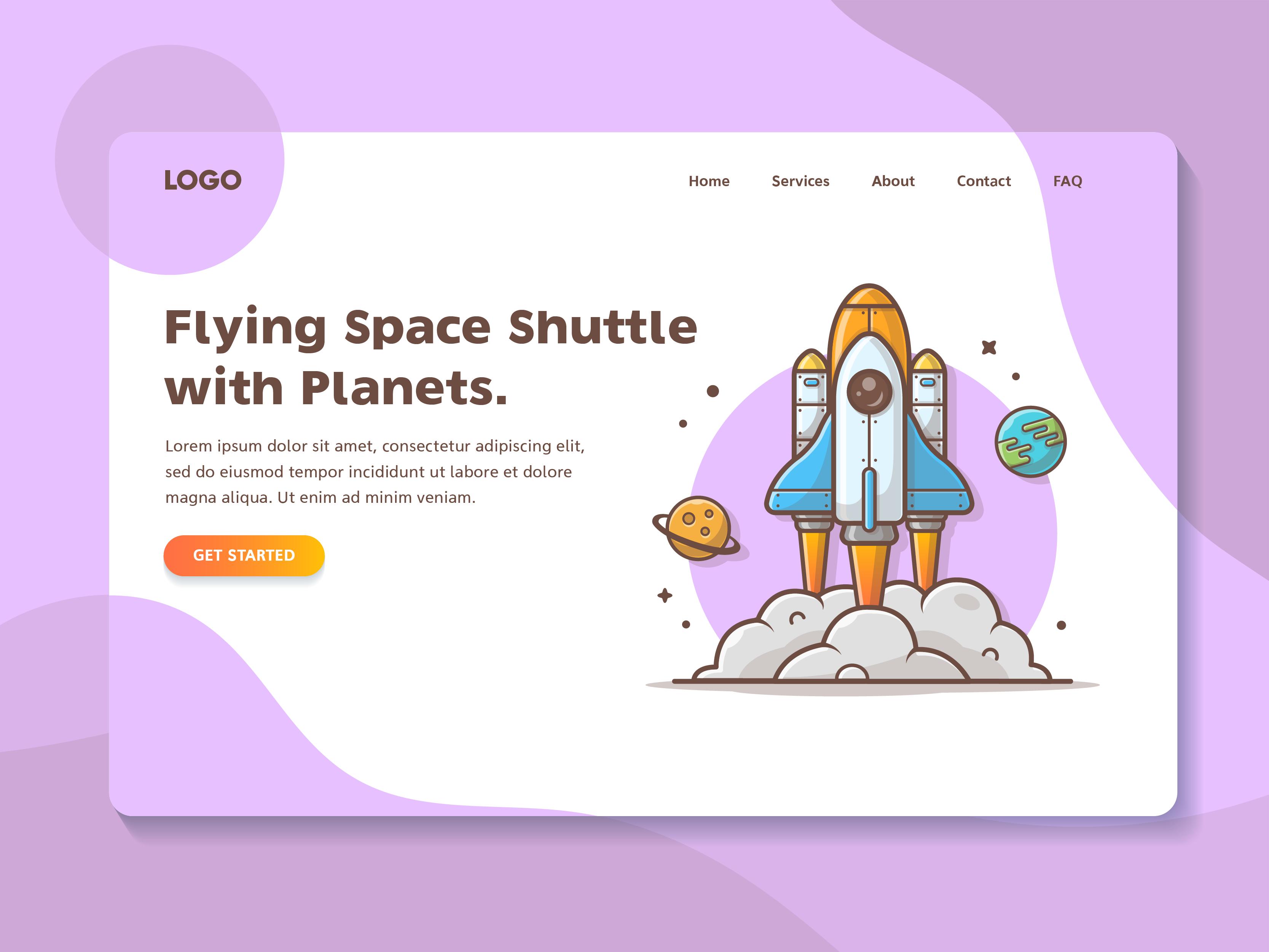 Flying space shuttle 06