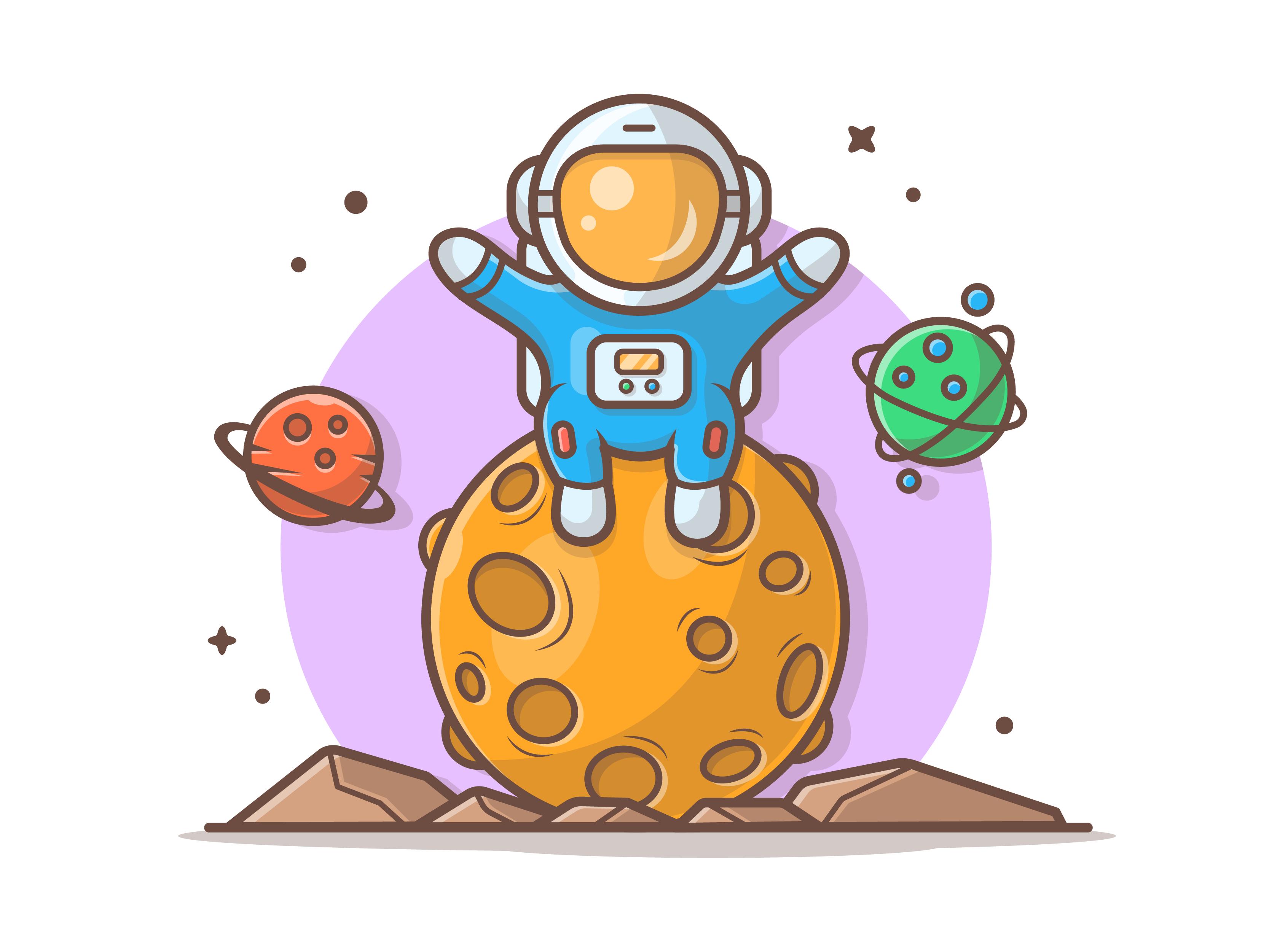 Astro sitting on moon 07