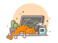 Lazy Cat and Code 🐱 💻