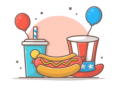 Happy Independence for our American friends 🌭🤘 icon logo illustration food fast dog hot celebration independenceday independence july 4th
