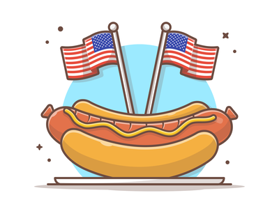Happy Independence for our American friends 🌭🤘 4th july independence independenceday celebration hot dog fast food illustration logo icon