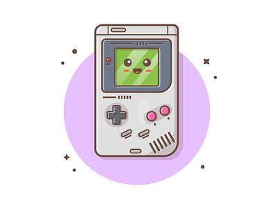 Original Cute GameBoy 😹 🎮 minimal icon illustration logo character mascot kawaii cute original gameboy boy game
