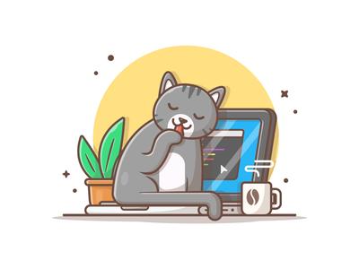 Cat on laptop! 😹 💻