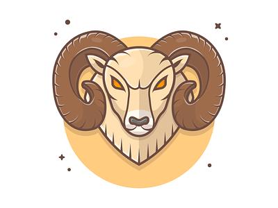 Ram mascot 🤘🐐 cute icon illustration logo e-sport sport character mascot goat sheep deer ram