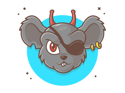 Modo (1/3) (character from Biker Mice from Mars) 🐁😁🤘 logo cute vector icon illustration mascot character mars from mice biker mouse
