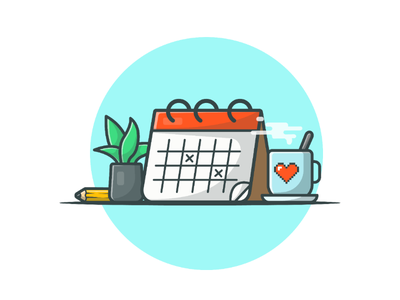 2019's just counting the days ⏳📅✏️ resolution holiday reminder planner icon logo illustration coffee schedule date day calendar