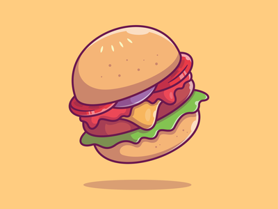 Flying fast Food 🌭 🍔 🍟 🍕🍦🥤 logo flat icon illustration food fast hotdog ice cream pizza french fries soda burger