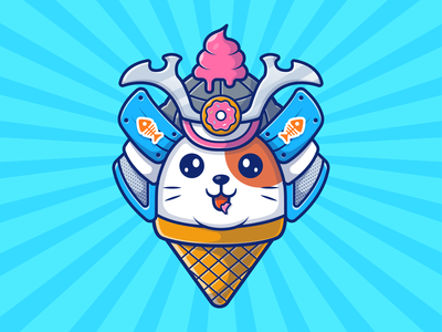 cat samurai! 😼😼🍦