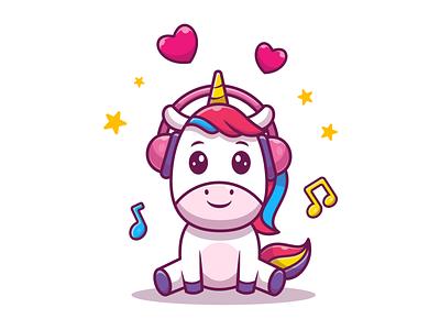 Everyone loves unicorn 🦄 😹 logo icon illustration mascot charcter animal rainbow horse cute magic love unicorn