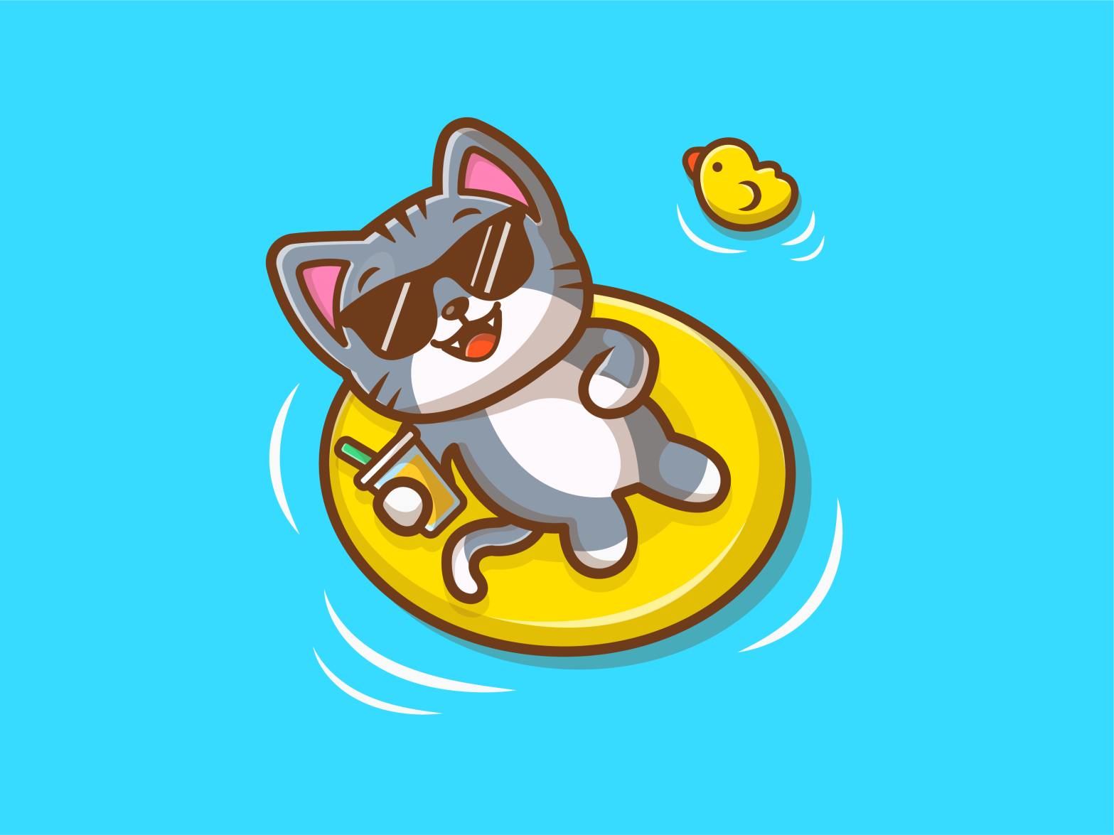 Cat chill duck 02