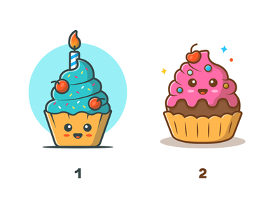 Happy Cake! 😁🎂🍰 sweet desserts cute birthday vector icon illustration character mascot logo cake happy