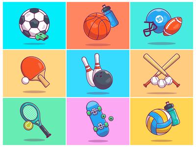 Flying Sports!! ⚽ 🏀 🏈 ⚾🎾🎳