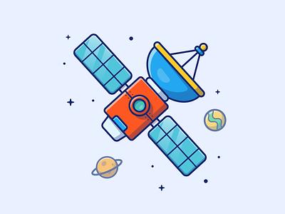 Satellite 🛰🛰✨ antenna logo icon illustration astronaut station world technology earth planet space satellite