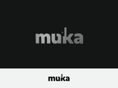 Muka Brand vector graphic icon brand communication editorial branding logo typography minimalism design