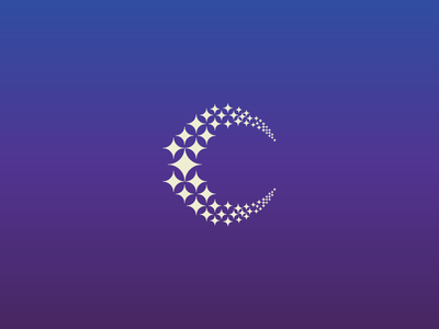Crescent constellation particle modular pictogram symbol logo stellar constellation star crescent