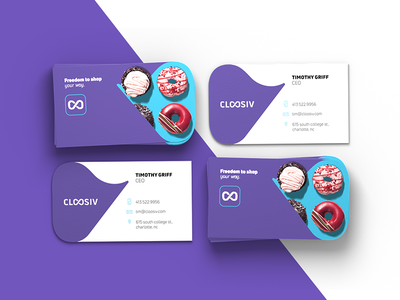 Cloosiv busiensscards typography color icon logo brand identity purchase shopping digital promotion wallet app cloosiv