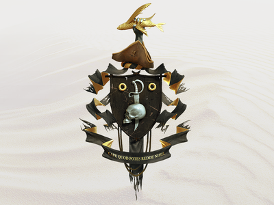 Pirate Coat of arms flame archipelago pyrus pirate