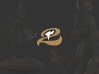 Horus-Aha character logo