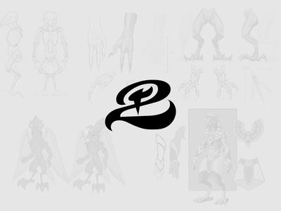 Horus Aha character design logo