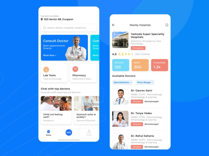 Medical App heart hospital medical app doctor ui trending layout app latest ios health app healthcare