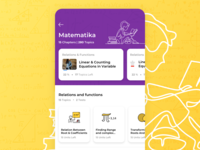 Learning App illustration ux latest trending teacher student ui android app learning