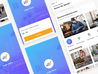 Home Services signup login ux sketch clean ui latest app ios services home