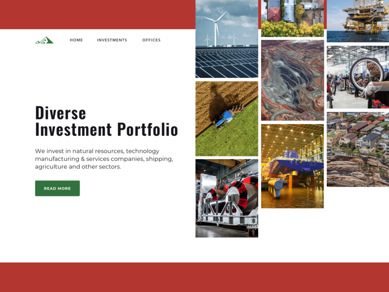 Investment Portfolio layout ui trending investment web portofolio landing page