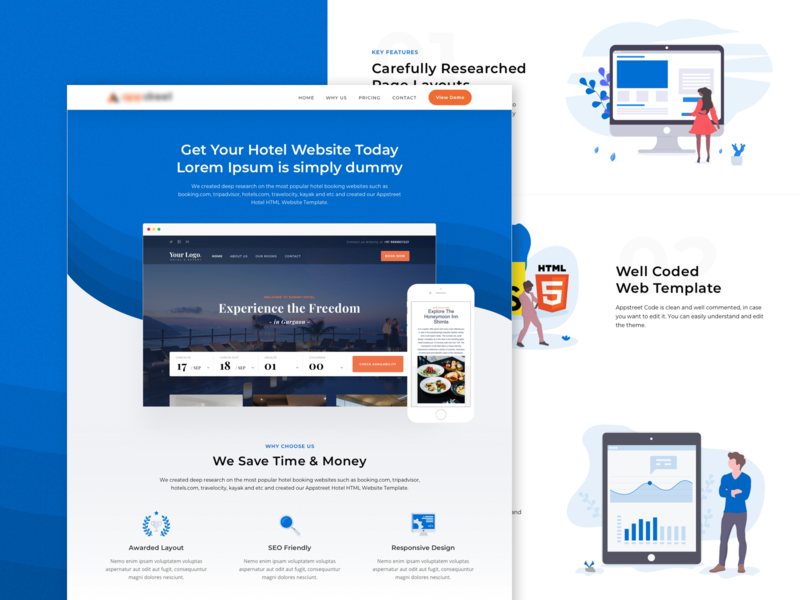 Product Page trending illustration website web layout ui product landing page
