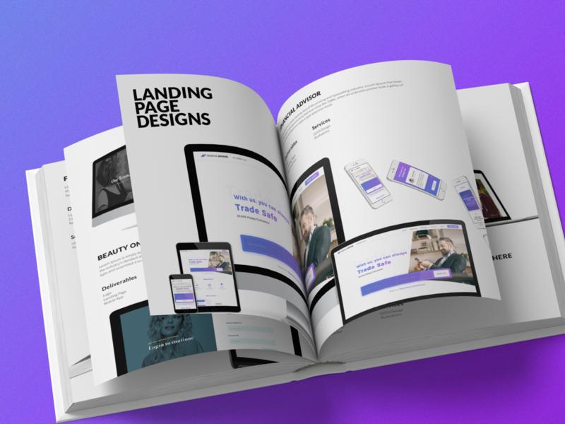 Portfolio website landing page trending resume design resume showcase lookbook book magazine portfolio