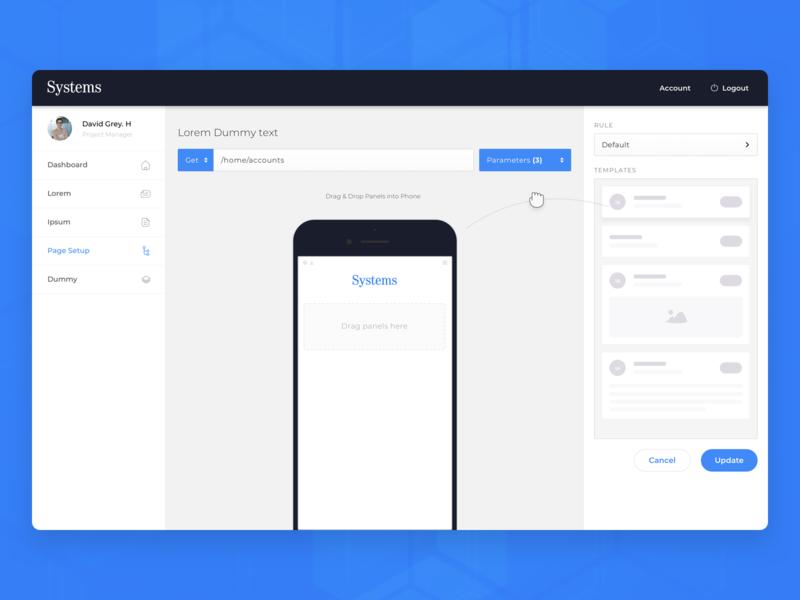 Custom App Page Setup page rearrange admin web application setup