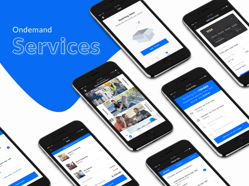 On Demand Services visual design layout icon ux cleaning ondemand latest application app