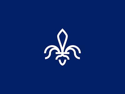 Fleur-de-lis fleur de lis design illustration logo logo for sale logo design fleur-de-lis