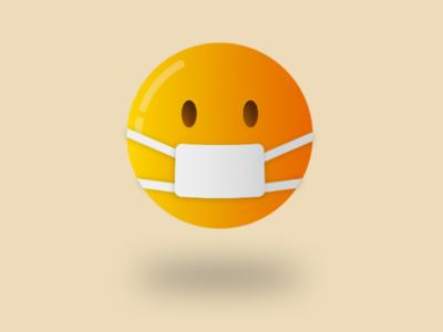 Facemask icon illustration facemask emoji vector coronavirus