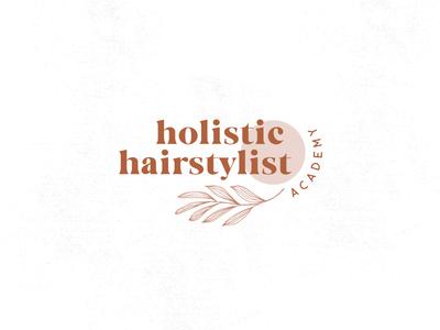 HOLISTIC HAIRSTYLIST ACADEMY wildflowers flowers icon illustration branding logo