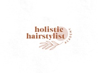 HOLISTIC HAIRSTYLIST ACADEMY wildflowers flowers icon illustration branding logo