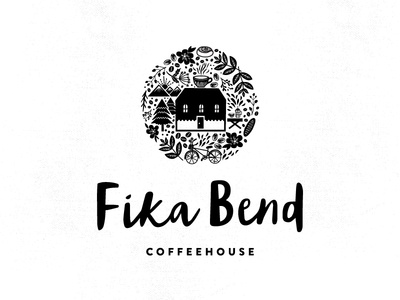FIKA BEND swedish coffee fika flowers hand-drawn illustration lettering