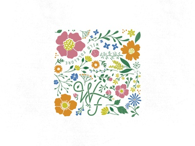 WILD FOLKLORE wild folklore hand lettering flower magic logo wildflowers flowers illustration