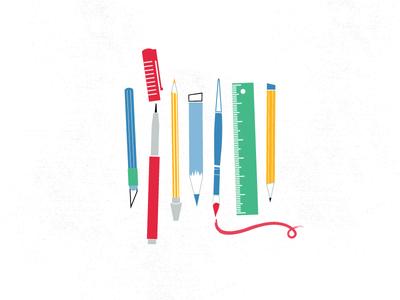 TOOLS logo design art tools artist tools illustration