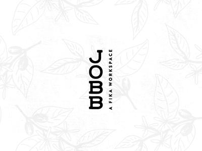 JOBB coffee flowers flowers logo design illlustration swedish workspace artists fika coffee