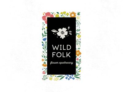WILD FOLK folklore wild folk folk wild logo logo design floral flowers illustration