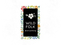 WILD FOLK folklore wild folk folk wild logo logo design floral flowers illustration