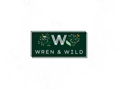 WREN & WILD botanical wren wildflowers flowers icon illustration branding logo